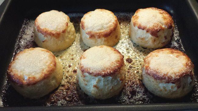 En zo rijzen de soufflésdan weer bij de 2e keer in de oven
