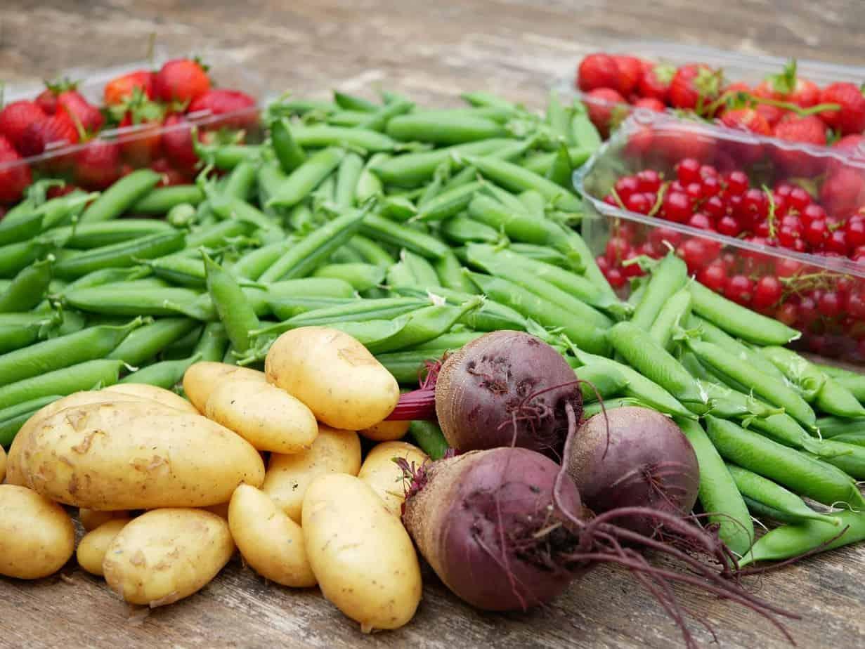 oogst aardappel bieten erwten